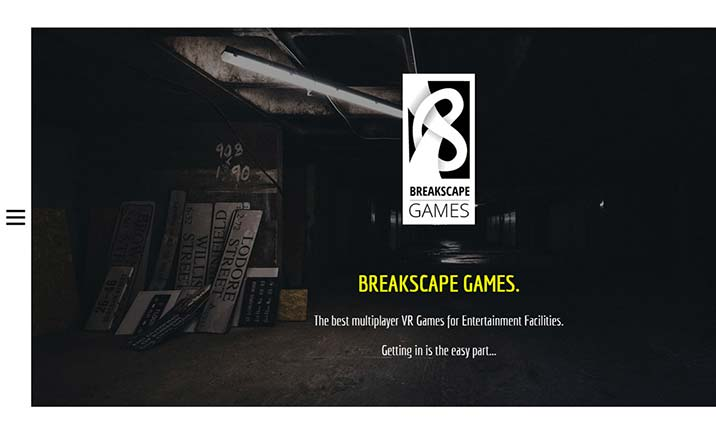 Breakscape Games website