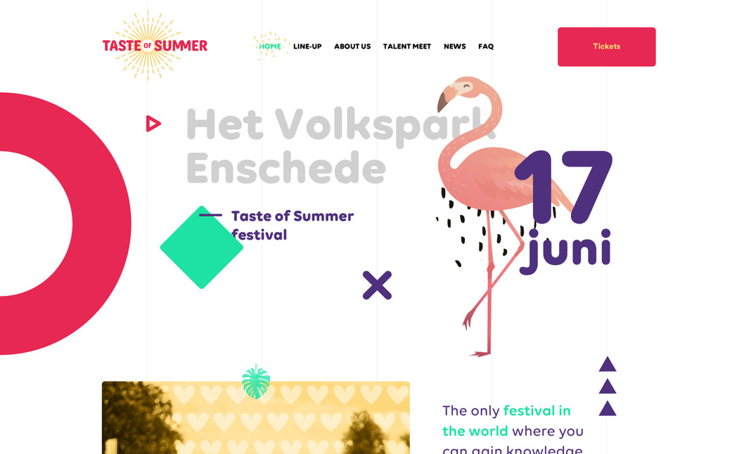 Taste of Summer website