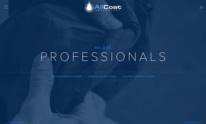 AllCoat Technology website