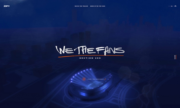 We The Fans website