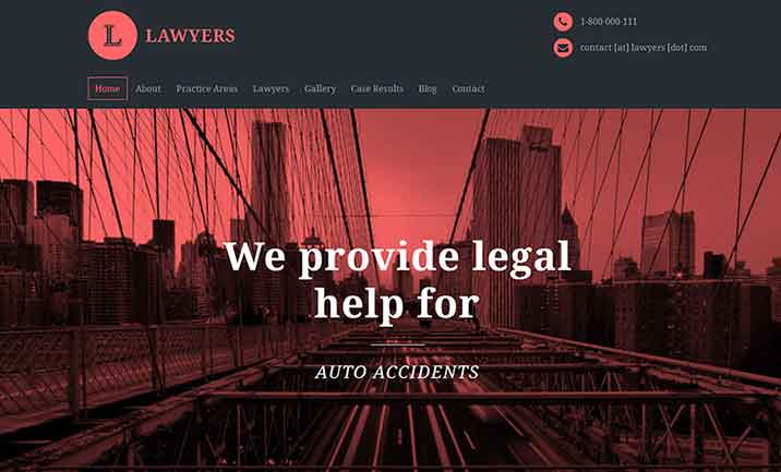 Lawyers Attorney WordPress Theme