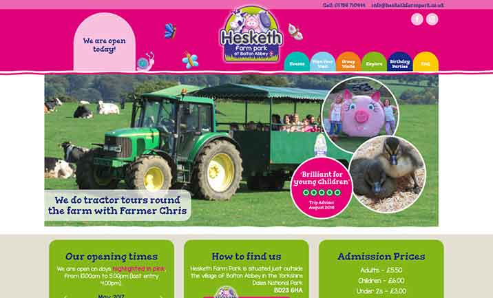 Hesketh Farm Park website