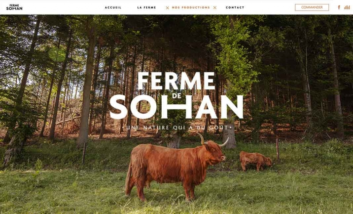 La Ferme de Sohan website