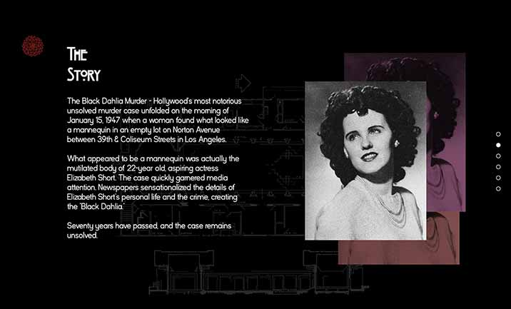 The Black Dahlia website