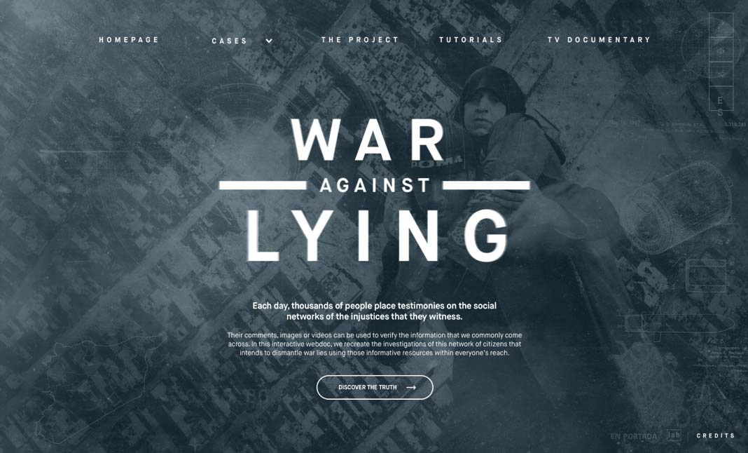 War Against Lies website