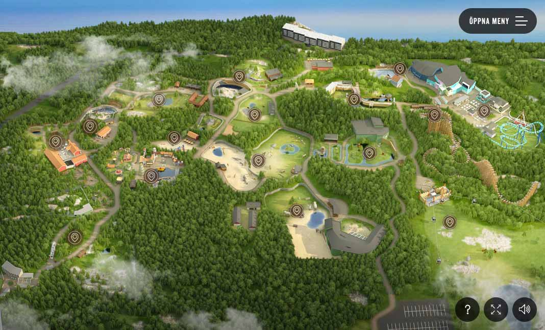 Interactive Wildlife Park Map Designed By Significant Bit - Sweden map interactive