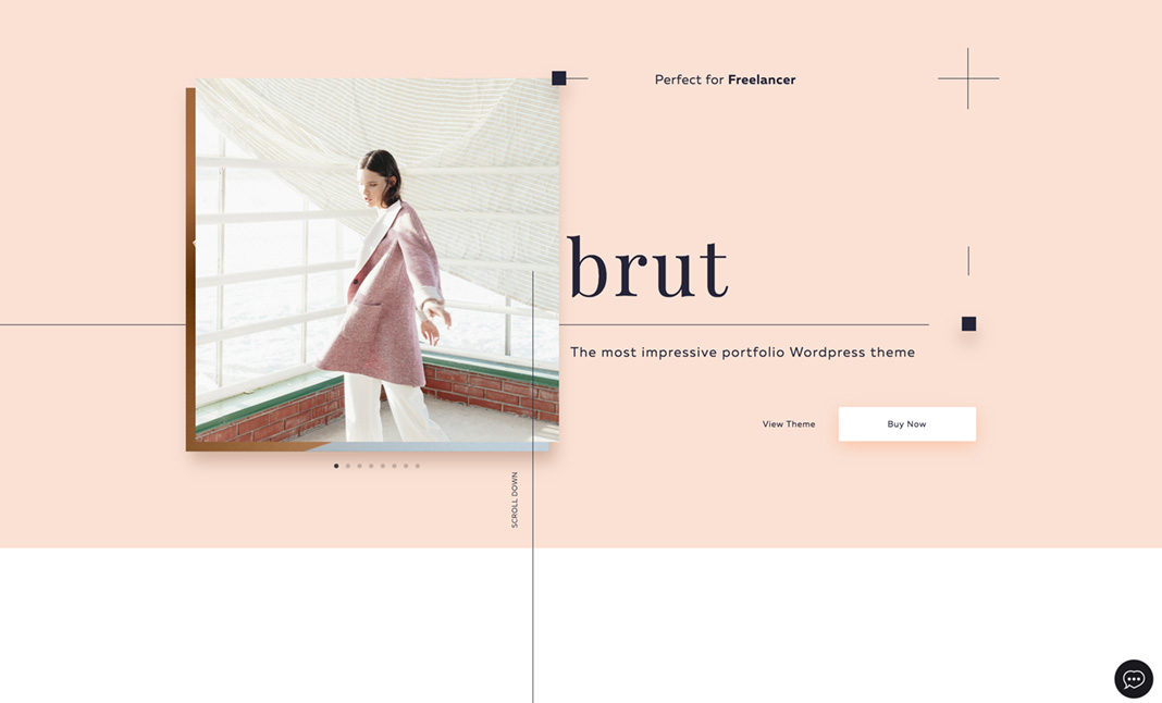 Brut Portfolio Wordpress Theme website