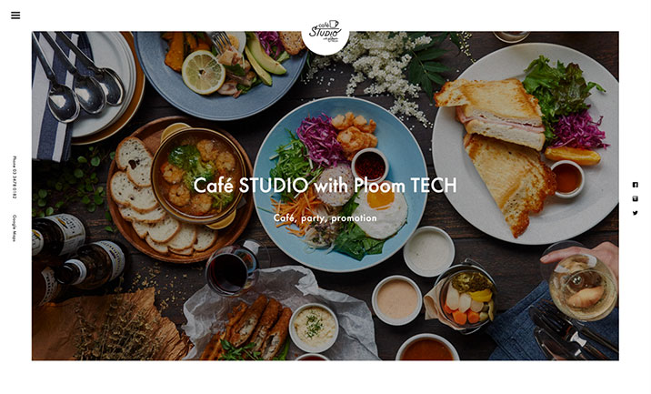 café STUDIO with Ploom TECH website