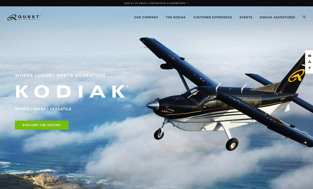 Quest Aircraft website