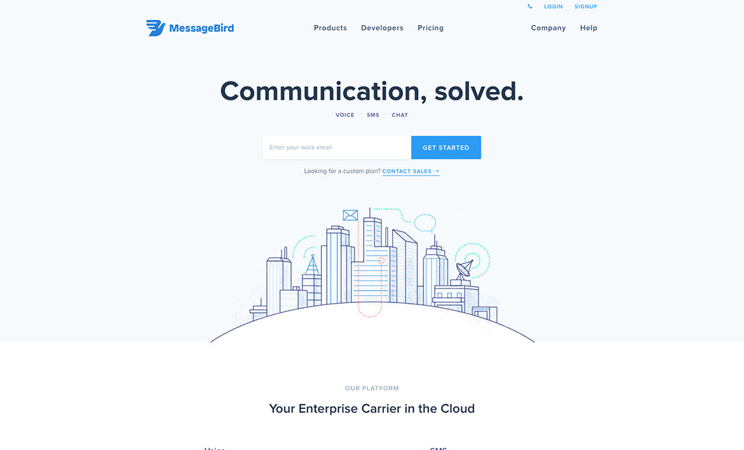 MessageBird website