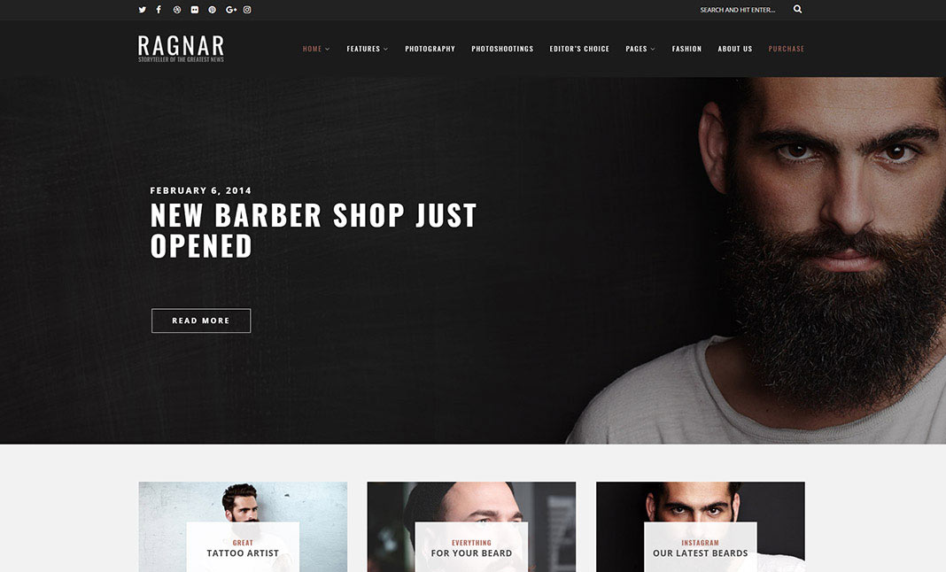 Ragnar Lite Wordpress Theme website