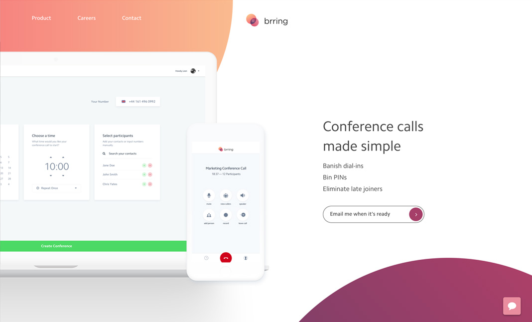 Brring — Smart Conference Calling designed by Falcon