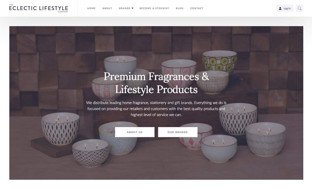 The Eclectic Lifestyle Company website