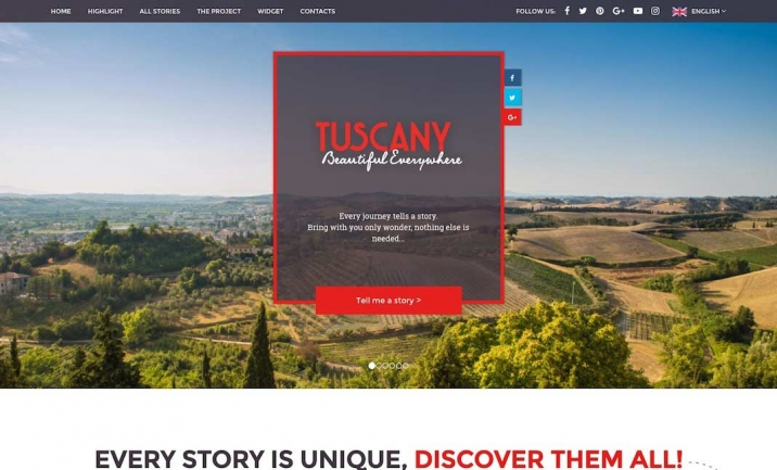 Tuscany Beautiful Everywhere website