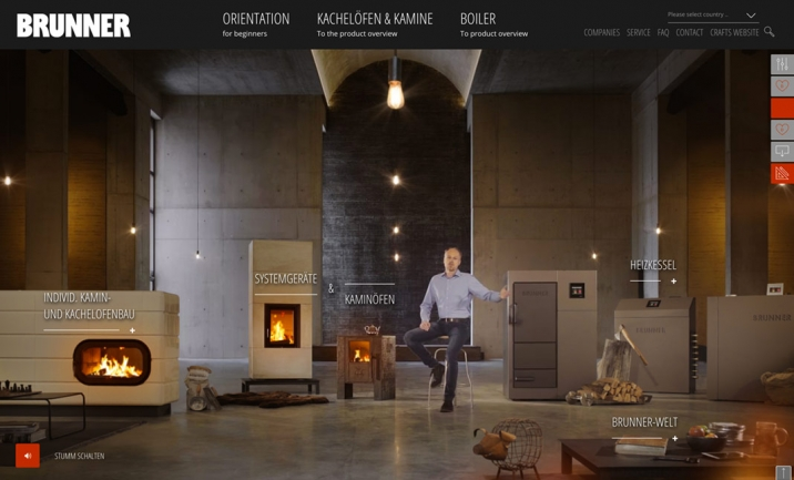 Brunner Experience website