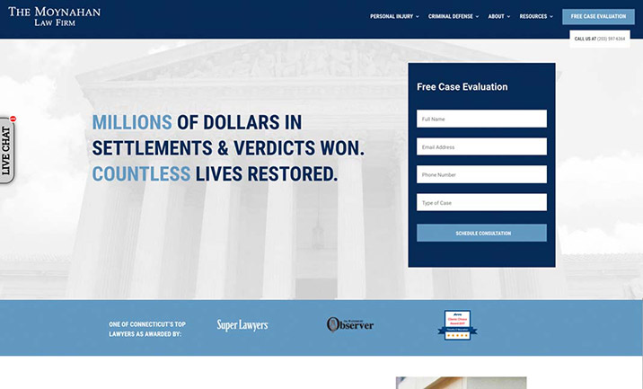 Moynahan Law Firm website
