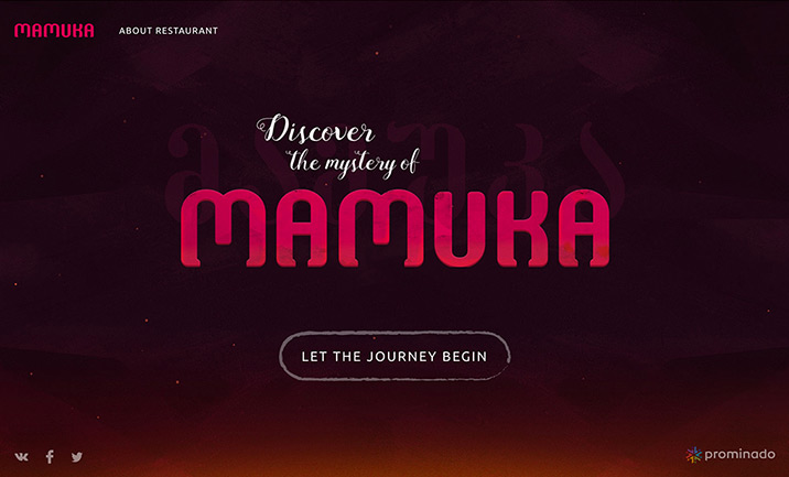 Mamuka restaurant website