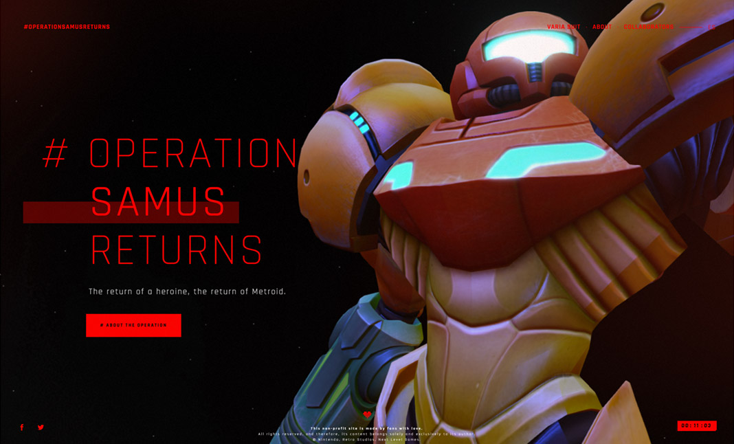 #OperationSamusReturns website
