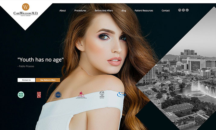 Carl Williams Plastic Surgery website