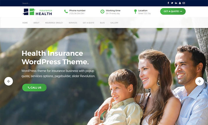 Health Insurance WordPress Theme