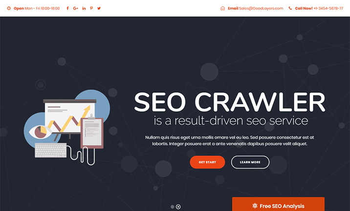 SEO Crawler - WordPress Theme