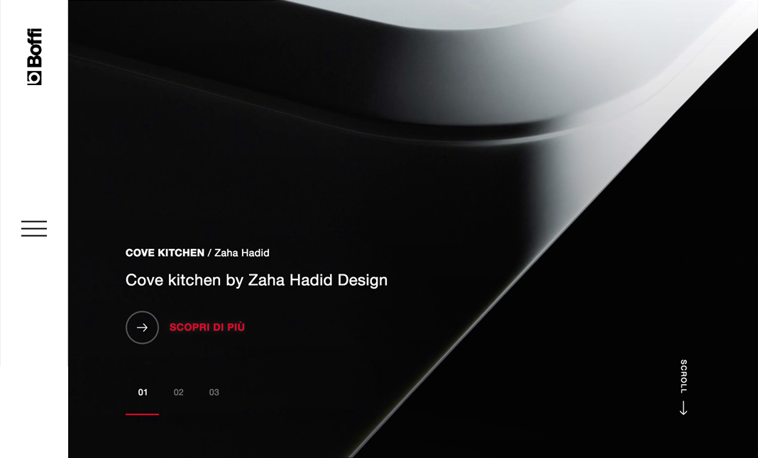 Boffi brand new site website