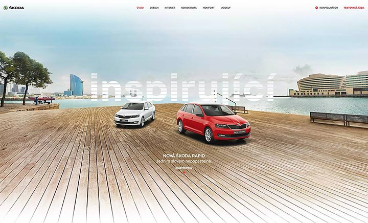 The New ŠKODA RAPID website