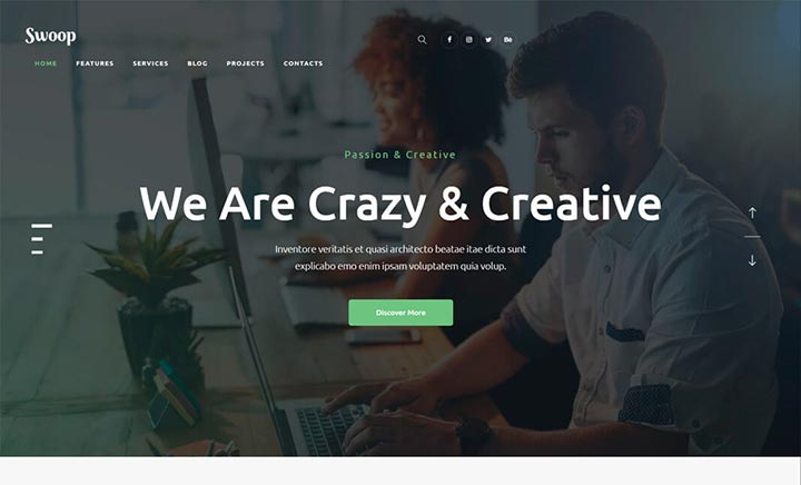 Swoop WordPress Theme website