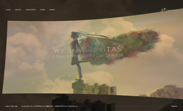 GRAVITAS inc. website