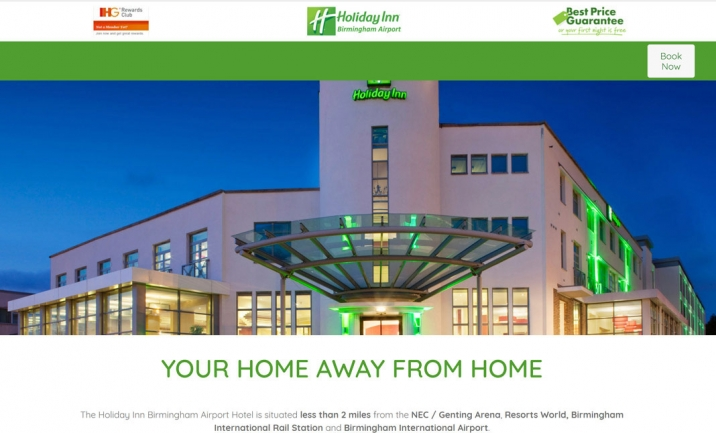 Holiday Inn® Birmingham Airport website