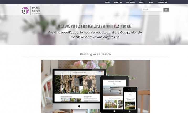Tracey Rickard Digital Design website