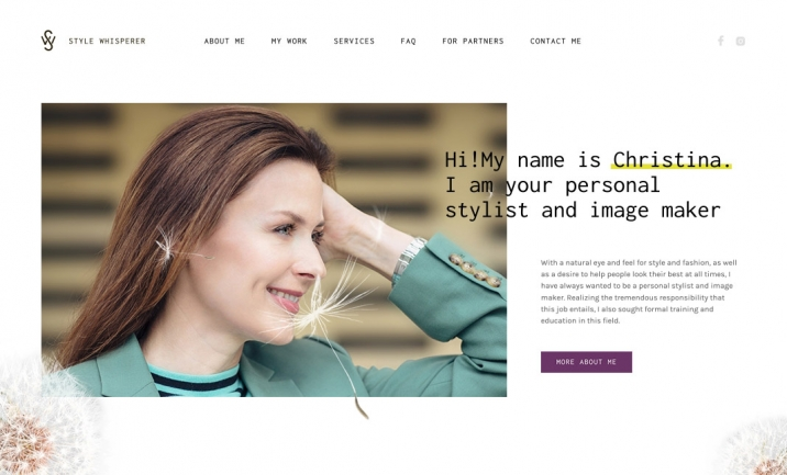 Style Whisperer website