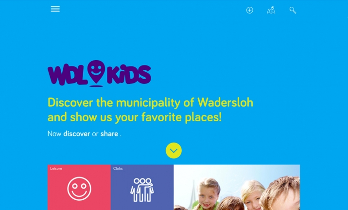 Kid City Map website