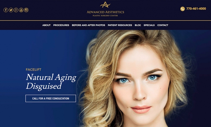 Advanced Aesthetics website
