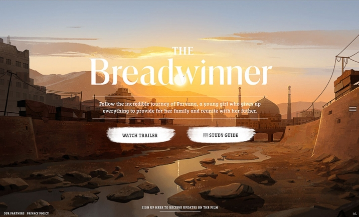 The Breadwinner website