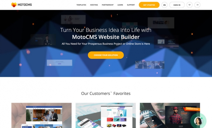 MotoCMS Quick Website Builder website