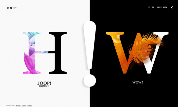 Joop Fragrances website