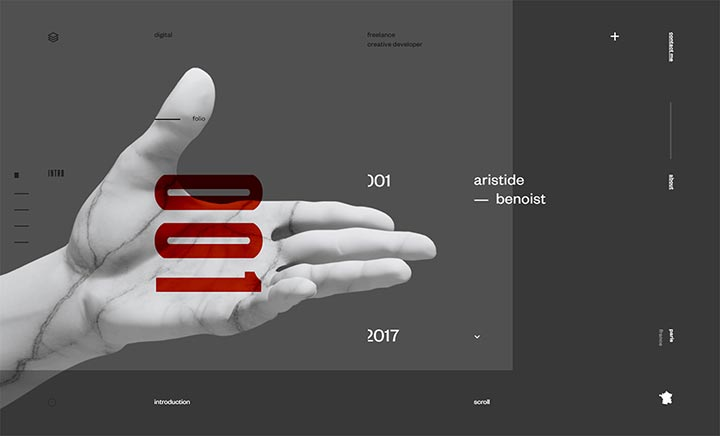 Aristide Benoist – Portfolio website