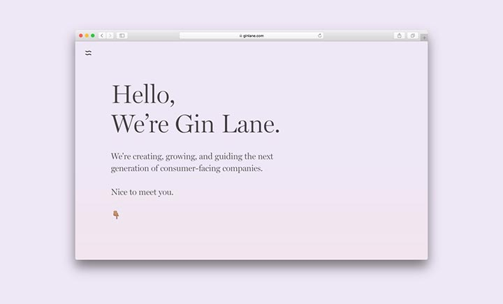 Gin Lane website