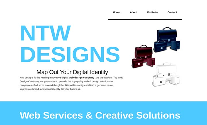 Ntw Designs: Creative Web Design website