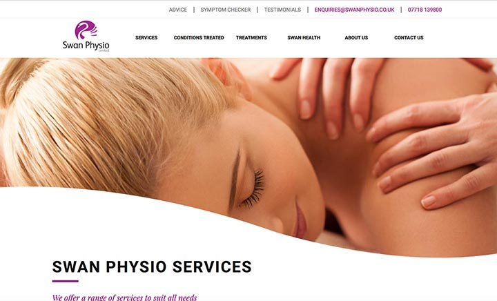 Swan Physio website