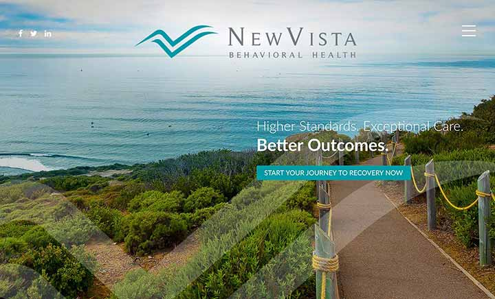 New Vista Behavioral Health website