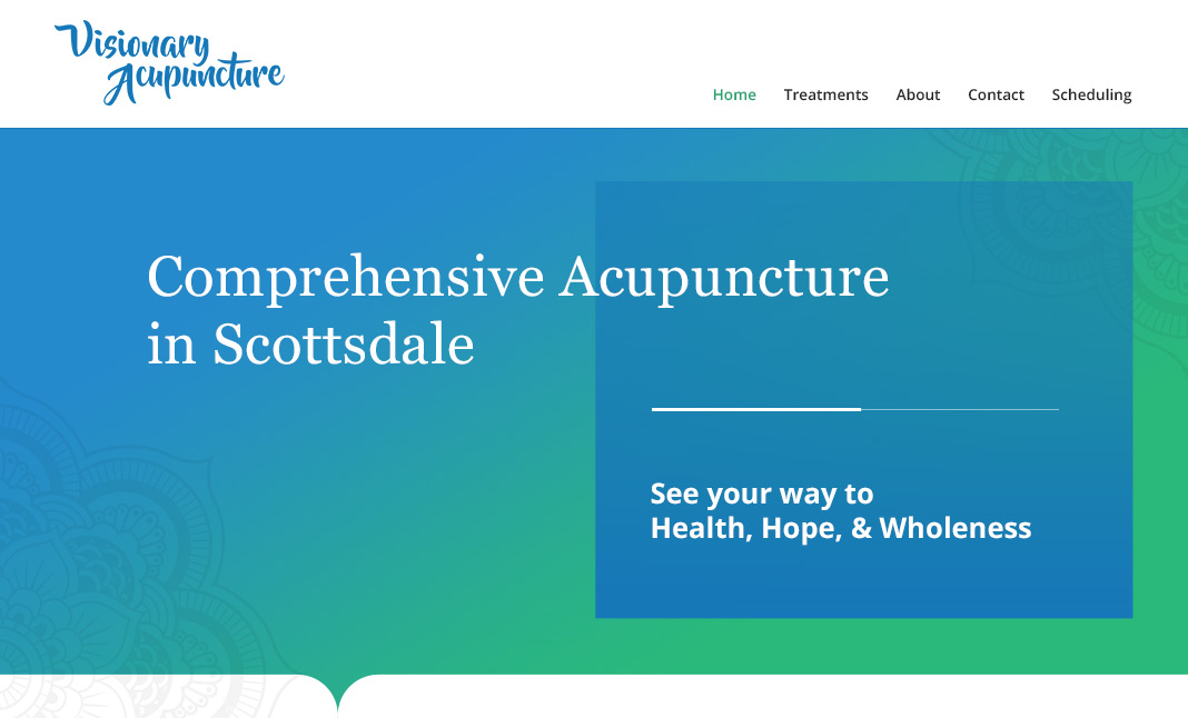 Visionary Acupuncture website