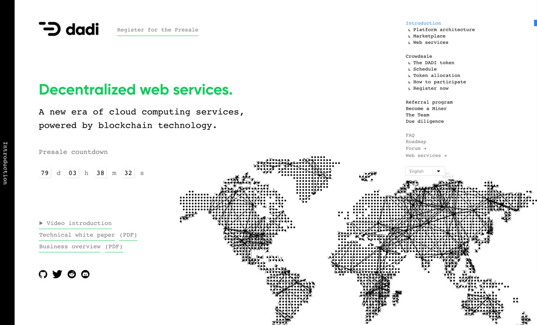 DADI.cloud website