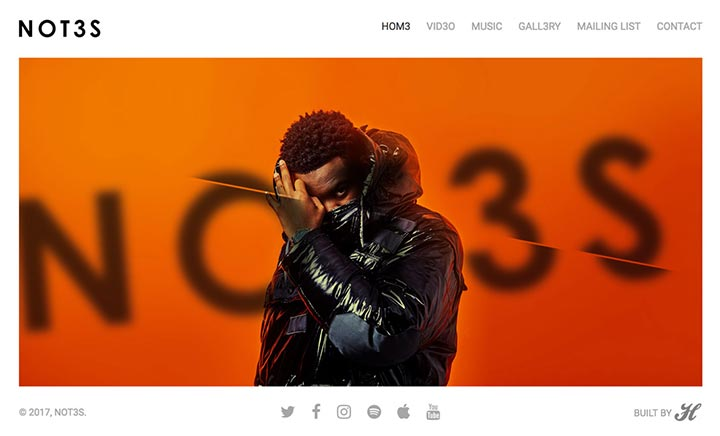 NOT3S website