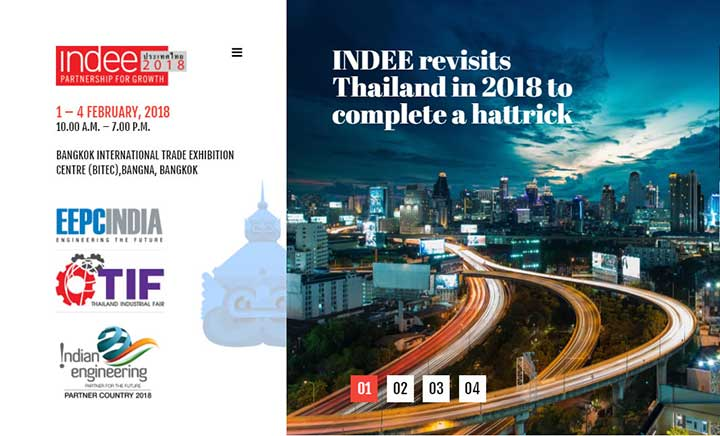 INDEE Thailand 2018 website