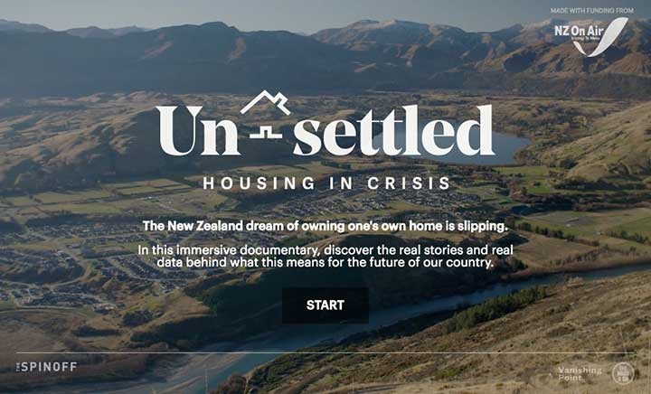 Unsettled: Housing in Crisis website