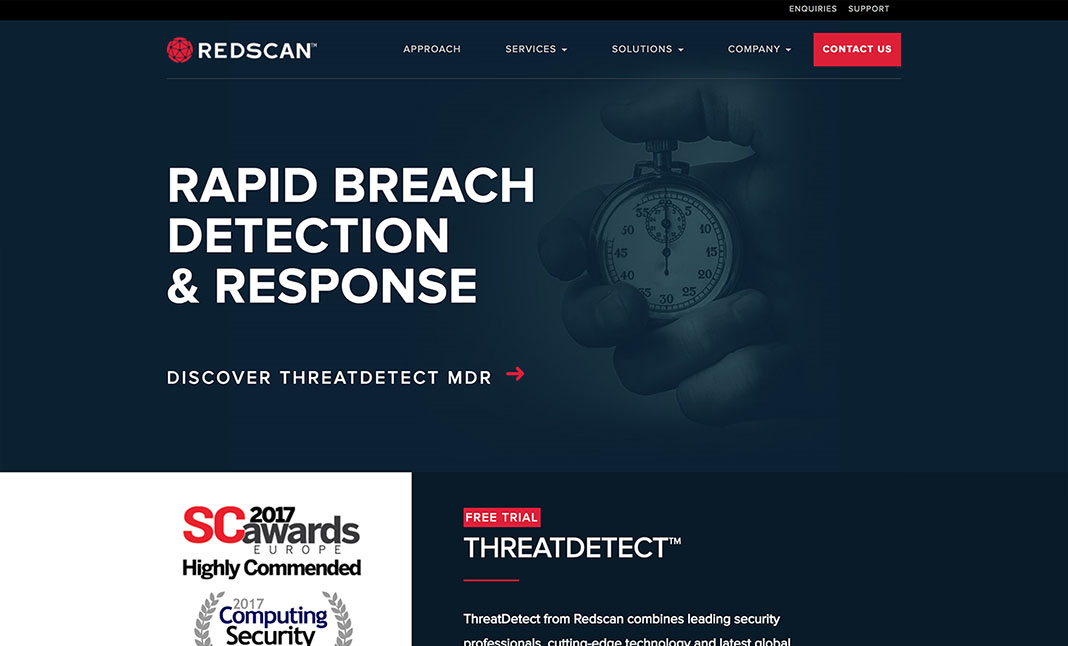 Redscan  website