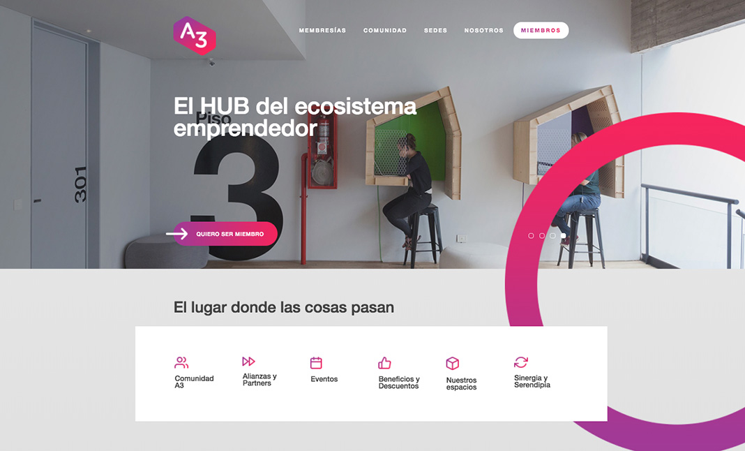 A3 Workplace website