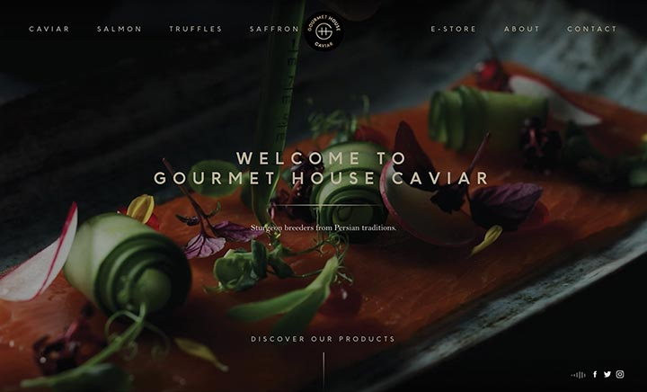Gourmet House Caviar website